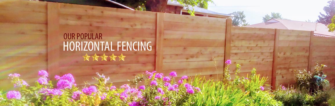 horizontal fencing in Lakewood Colorado and West Denver